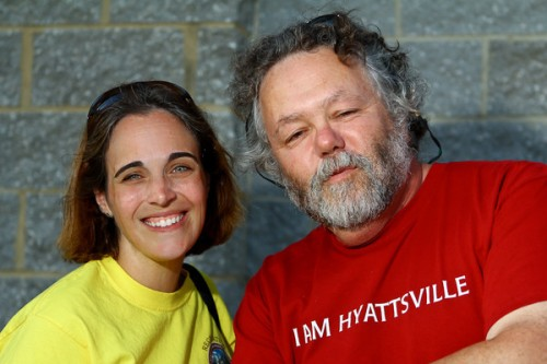 Hyattsville Communications Director Abby Sandel with Mayor Marc Tartaro. Photo by Chris Suspect.
