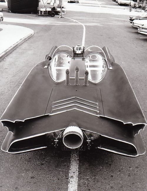 Rear, Primered Batmobile