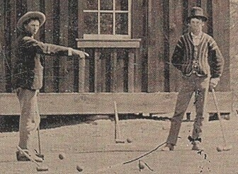 billy the kid playing croquet